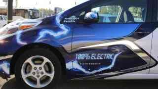 ECOCARS test drive Nissan LEAF