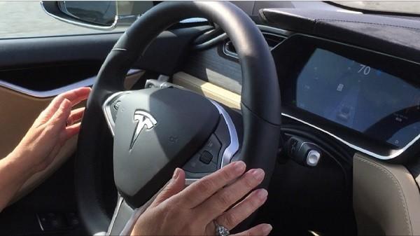 Tesla Model S with autopilot